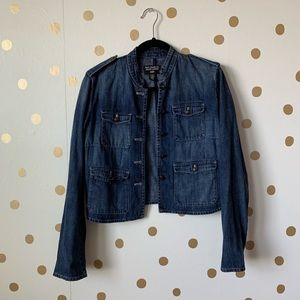Polo Jean Ralph Lauren Military Style Denim Jacket